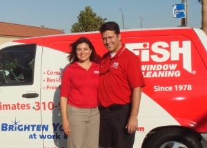 Cynthia Julian and John Gran, Owners, Fish Window Cleaning - Los Angeles South Bay