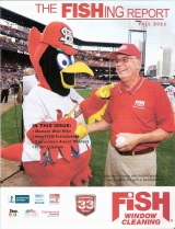 "Mike Merrick and ""FredBird"" having fun in St. Louis"
