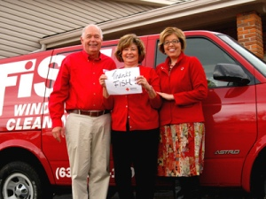 Mike, Linda and Jill Myers, Regional Development Director, American Red Cross